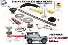 für Land Rover Defender 2.4 Td4 4x4 122bhp 2007> Steuerkette Set mit Schaltung