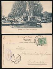 ARGENTINA to GIBRALTAR 1911 PPC TIGRE REGATTA RIVER BOATS