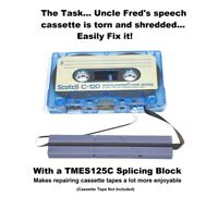 Splicing and Leadering Block Audio Cassette and DAT Gray Color by TME®