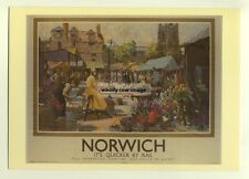 ad2889  -  LNER - Norwich , is quicker by Rail  -  modern poster advert postcard