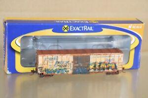 ExactRail EN-51302-4 N Desgastado Railbox 5277 SD Box Car Rbox 1534 Nv