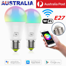 E27 WiFi Smart LED Light Bulb Globe For Alexa Google Home RGB Color Lamp Indoor
