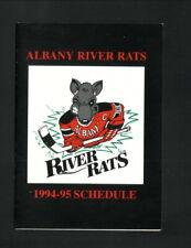 Albany River Rats--1994-95 Pocket Schedule--Ramada--AHL