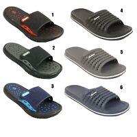 Mens Sports Slides Sliders Flip Flops Beach Casual Gym Summer Shoes Sizes UK