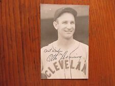 """OTTO """"DUTCH"""" DENNING  Cleveland  Indians  Signed  Rowe Postcard  (Died  in 1992)"""