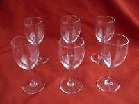 BACCARAT,HAUT BRION,CRYSTAL LIQUOR GLASSES,SET OF 6.