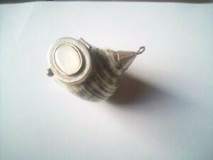 Rare Antique Seashell Snuff Box with Silver Plate Mounts - c1920