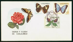 Mayfairstamps Colombia 1976 Butterflies & Flowers First Day Cover wwp2117
