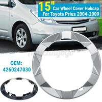 15'' Silver Car Wheel Cover Hubcap For Toyota Prius 2004 05 2006 2007 2008