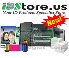 FARGO DTC1500 Dual Side Photo ID Card Printer Bundle