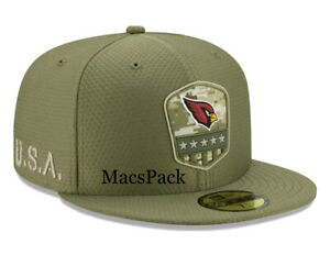 New Era 59Fifty Arizona Cardinals NFL Salute to Service USA Fitted Hat Cap 7 3/8