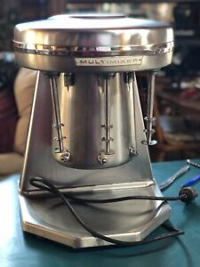 VINTAGE STERLING MODEL 9B MULTIMIXER 3 HEAD MALT MILKSHAKE MACHINE ORIGINAL