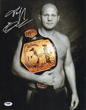 Fedor Emelianenko Signed 11x14 Photo PSA/DNA COA Picture Pride Grand Prix Belt 1