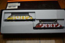 marklin mini Spur Z 2x SBB re 460  100 jahre SBB 1902 2002  In gelB und rot
