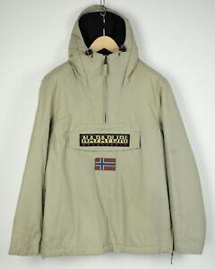 NAPAPIJRI N0Y1G6 TAPED SEAMS Men LARGE Fleece Lined Anorak Style Jacket 29707-GS
