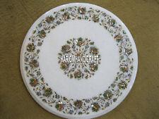 White Marble Corner Coffee Table Top Paua Shell Stone Kitchen Inlaid Decor H3980