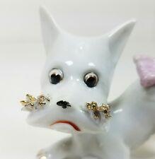 Scottie Scottish Terrier Dog Puppy Playful Female Girl Ceramic Figurine Japan
