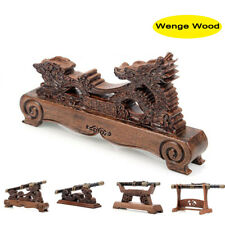 Wenge Dragon Samurai Sword Katana Wakizashi Tanto Holder Stand Display Rack Gift