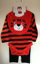 BNWT Baby Boys Tiger Patterned 3 Piece Outfit. Age 3-6 Months