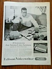 1956 Edison Voicewriter Ad A Brainstorm that boomed into business