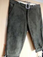 Neutrale-Jäger oder Trachthirschlederhose-Kniebund-3/4 lang sämig-weiches Leder