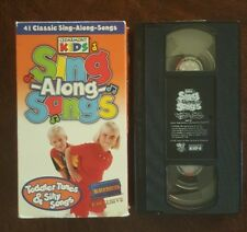 VERY RARE~ All-on-ONE VHS~Cedarmont Kid~ Sing-Along:Toddler Tunes & Silly Songs