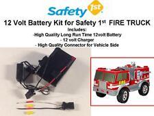 NEW! 12V LONG RANGE OEM BATTERY KIT FOR THE SAFETY 1ST FIRE TRUCK CAR