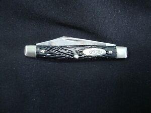 VINTAGE CASE XX 1940 - 1964 6233 2 BLADE POCKET KNIFE BLACK BONE HANDLES