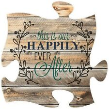 P. Graham Dunn Puzzle Piece Print Frame Panel Art the Is Our Happily Ever After