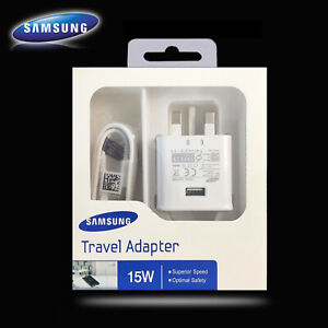 Samsung Galaxy S8+ S9 S10 Plus Note 8 10 2A Fast Mains Charger Type-C USB Cable