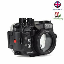 SeaFrogs 40m Waterproof Underwater Camera Housing for Canon EOS M6 22mm Lens UK
