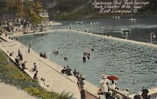 Postcard Swimming Pool Rock Springs Park Chester West Virginia near Liverpool OH