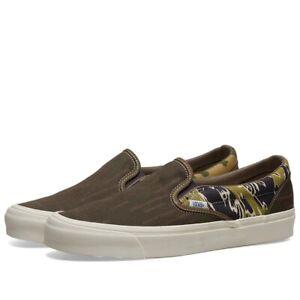 Vans Vault OG SLIP-ON 59 LX Men's Skate Shoes Size 11.5 Mixed Camo