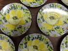 7 Floral Small Melamine Plates / Saucers Yellow & White Daisies Vintage 6'