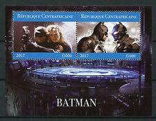 Central African Rep 2017 CTO Batman 2v M/S I Superheroes Stamps