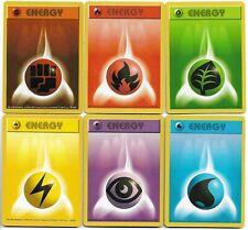 Pokemon - Basic Energy Set Lot of 6 - Base Set Shadowless 97-102/102 - VG-EX
