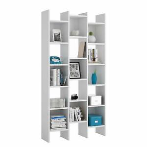 Libreria in legno moderna scaffale mensola libri camera soggiorno salotto bianco