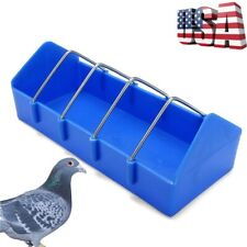Bird Cage Feeder Cup For Pet Pigeon Food Poultry Supplies Storage Feed Us Stock