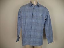 Men's Gray Key West Plaids & Checks Casual Shirt. Large.  Long Sleeve.