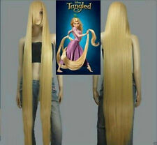 100cm Long Rapunzel Tangled Light Golden Blonde Straight Cosplay Hair wigs