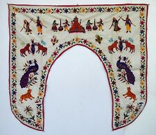 Vintage Door Valance Window Decor Wall Hanging Hand Embroidered 48 x 48 inch X09