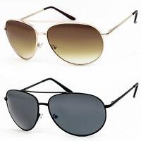 Aviator Sunglasses Vintage Gold Black New Mens Women Fashion Frame Retro Silver