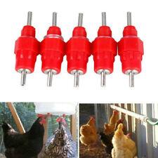 5PC Chicken Waterer Automatic Poultry Water Nipples Duck Hen Feeder Drinker Tool