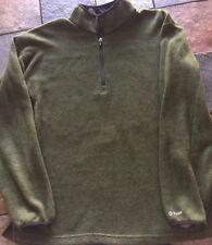 Dickies Men's Green Fleece Pull Over Sweater Large
