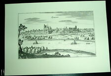 Tangermünde: alte Ansicht Merian Stich Druck 1650