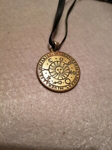 Vintage Sun celestial/zodiac talisman amulet for Wealth , Health & Happiness,