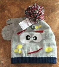 5da892dc682 Boys Wonderkids 2-Piece Gray Pom Pom Winter Hat   Mittens Set ~Size OSFM