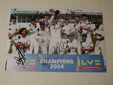 Yorkshire County Cricket Champions 2014 & 2015 12x8 Photo Signed by 5