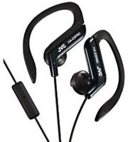 "JVC Ha-Ebr80-B Black ""Sport Clip""Headphones W/Mic [New Headphone] Blac"