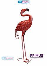 Primus Metal Pink Flamingo Forward Facing, Garden Ornament, Outdoor Sculpture